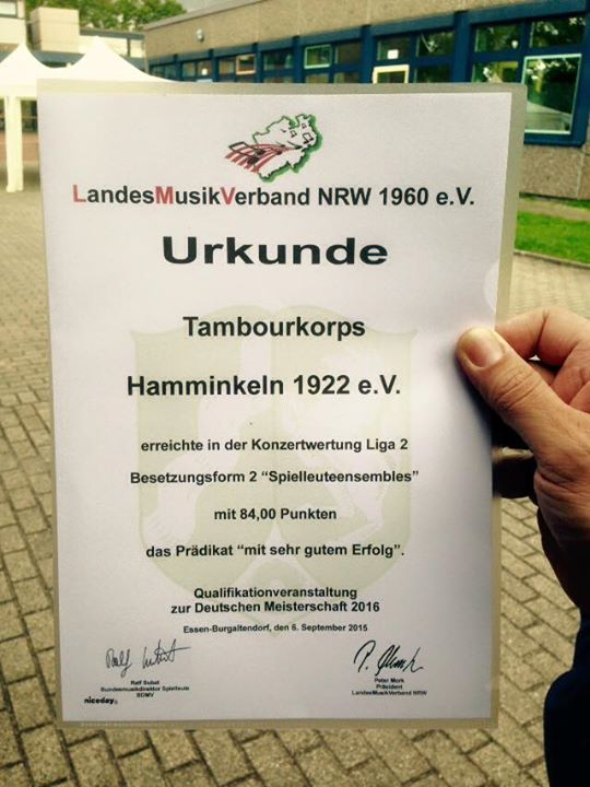Urkunde Qualifikation zur Deutschen Meisterschaft
